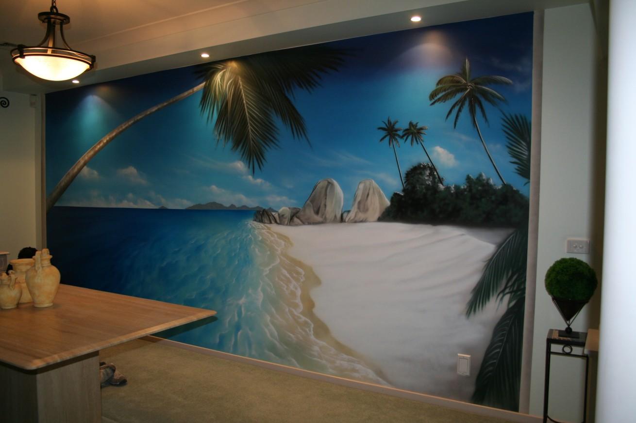 Wall Mural Beach Scene Gallery home design wall stickers