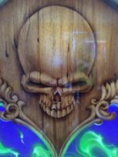 150 Workshop project wood skull