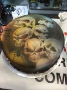 150 Cake airbrushed