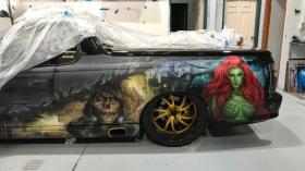 Airbrushed Batman Ute