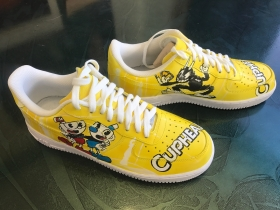 Airbrushed Shoes - Cuphead
