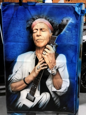Airbrushed Banner - Rolling Stones