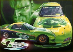Incredible Hulk drag car