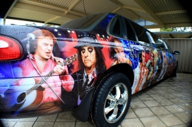 Airbrushed Limo