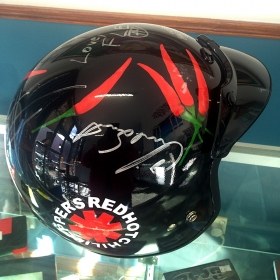 Red Hot Chilli Peppers Helmet (Signed)
