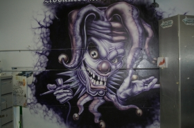 Jester wall art in Advanced Airbrush