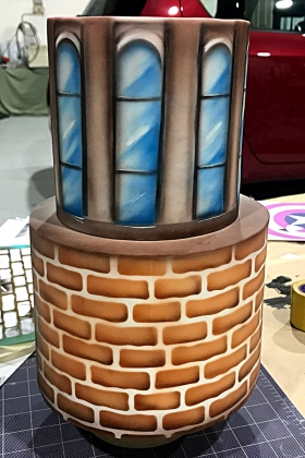 Airbrushed Birthday Cake