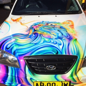 Airbrushed Car - Cat Theme