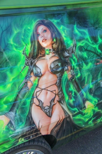 Airbrushed Panel Van - Poison Ivy