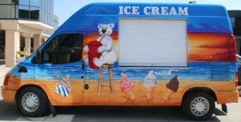 Promotional - Ice Cream van Airbrushed Beach Themed