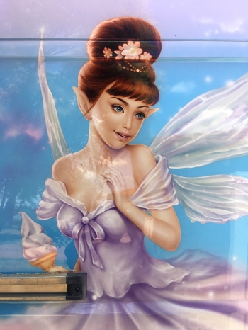Airbrushed ice Cream Van