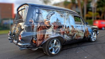 Airbrushed Panel Van - Ned Kelly