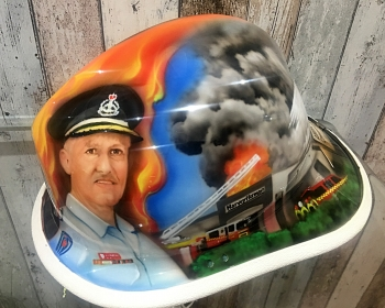 fire fighting helmet retiring commissioner NSW