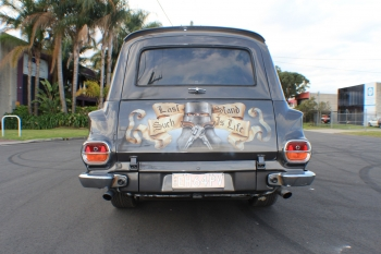 Ned Kelly - Back of panel van
