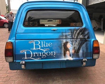 blue dragon back