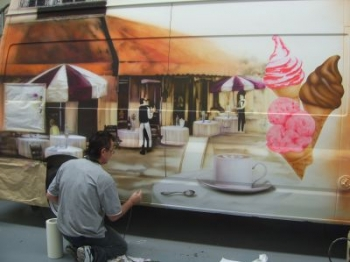 Promotional - Ice Cream van Airbrushed BAR COCO in production