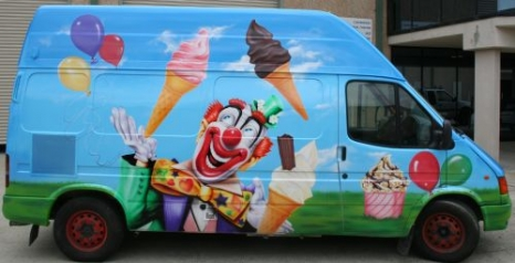 Airbrushed Ice Cream Vans