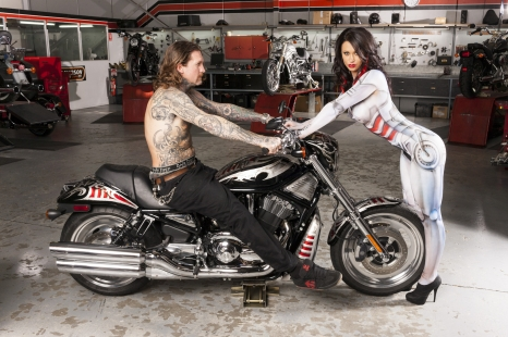 Seth Enslow & Kira at shoot