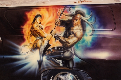 Airbrushed Panel Van (for James)