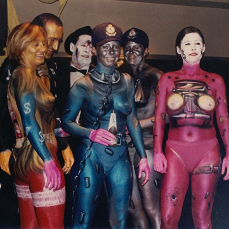 First promotional body painting