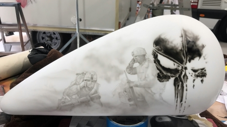 Pearl White Tribute Bike Tank