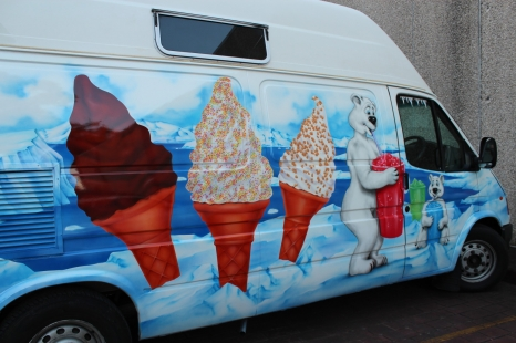 Ice cream van AIRBRUSHED - ice themed