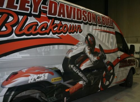 Digital - Harley Davidson truck from back view up side 500