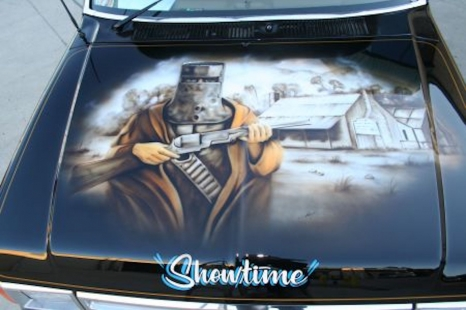 Tow Truck Mural - Bonnet Ned kelly