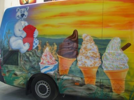 Promotional - Ice cream van Airbrushed Mountain themed