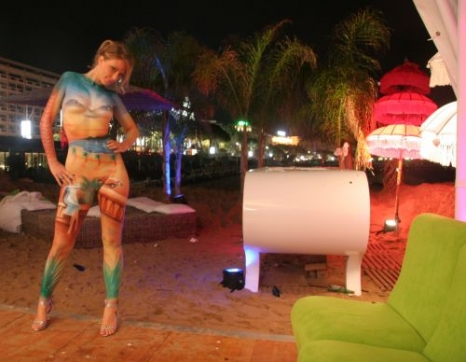BodyPainting in Cannes