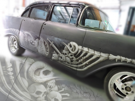 '56 Chevy - Skull Graphics