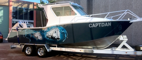 Airbrushed Boat