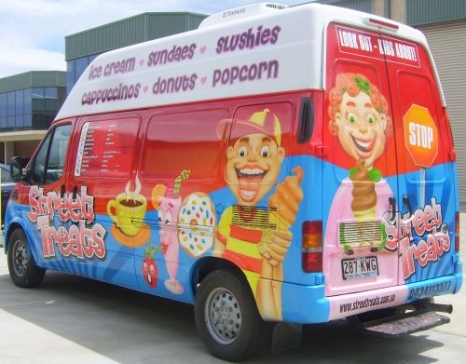 Promotional - Ice Cream and Food VAN Airbrushed