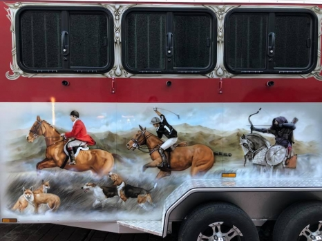 Airbrushed Horse Trailer