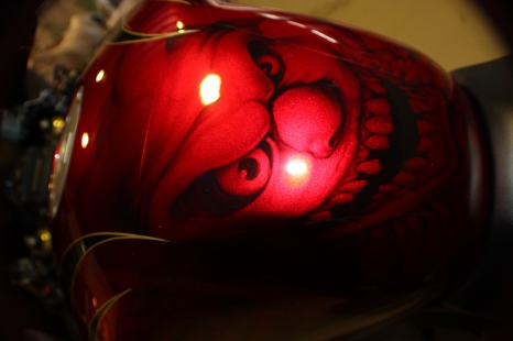 Bike Tank with candy apple clown