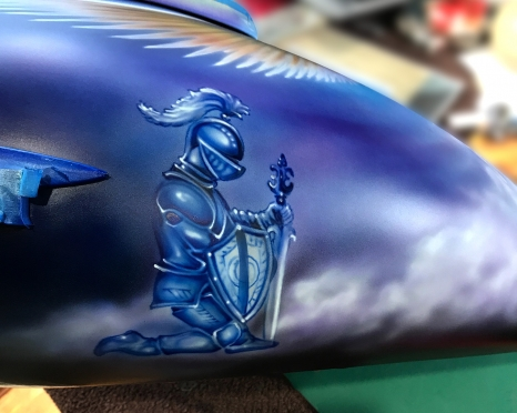 Airbrushed Bike Tank