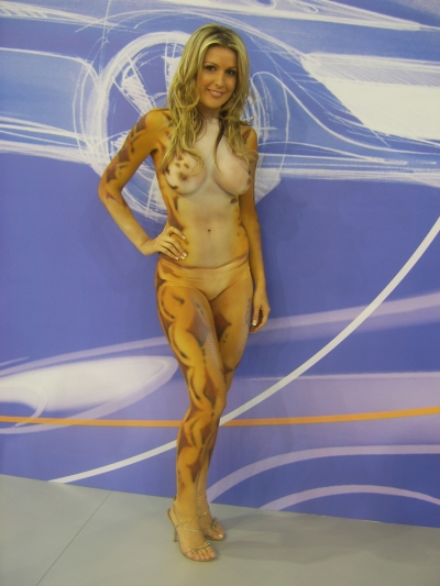 Model Advanced Body Painting In Promotional Work