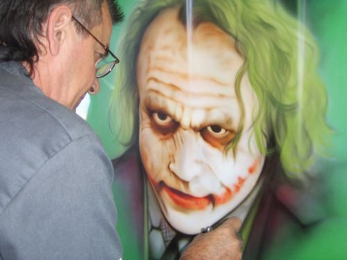 Les voitures auto tuning custom car painting airbrush for Airbrushed mural
