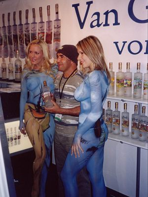 Promotional Body Painting Girls For Van Ggh Vodka