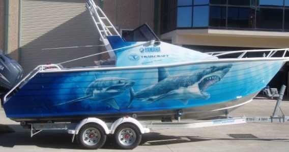 We offer design & production on Drag, Racing & Fishing Boats, Cruisers In Digital wrap or Airbrushed